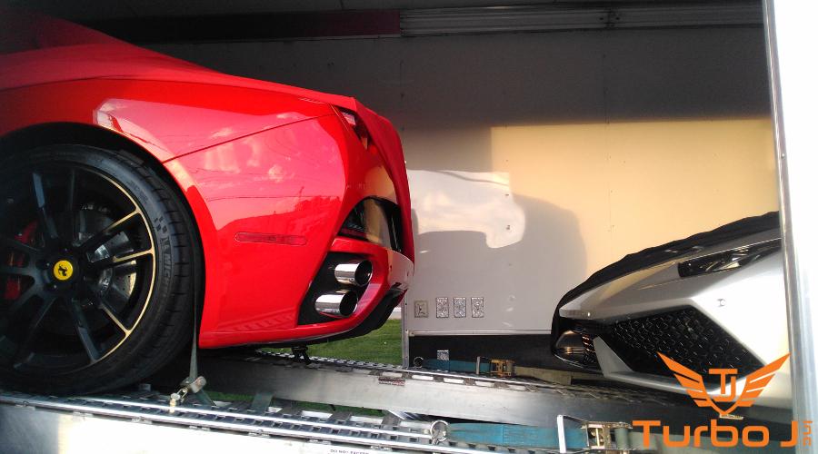 Ferrari and Lamborghini enclosed transportation services in Alberta