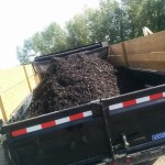 Bulk Material Charcoal Mulch Delivery in Calgary