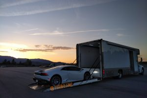 Turbo J Enclosed Transporter loading Lamborghini